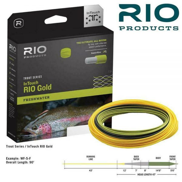 RIO IN TOUCH GOLD FRESHWATER FLOATING TROUT FLY LINE