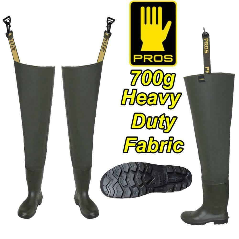 PROS 700g DELUXE HEAVY DUTY THIGH WADERS