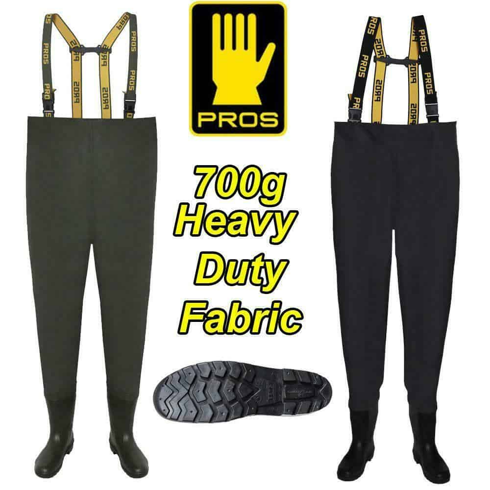 PROS 700g DELUXE HEAVY DUTY CHEST WADERS