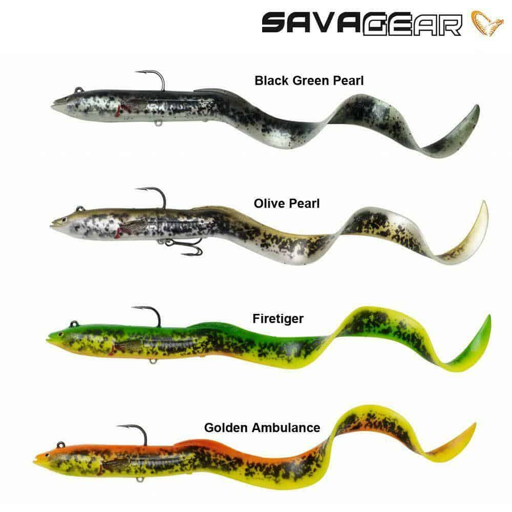 SAVAGE GEAR 4D REAL EEL READY TO FISH LURES  20cm 38gm