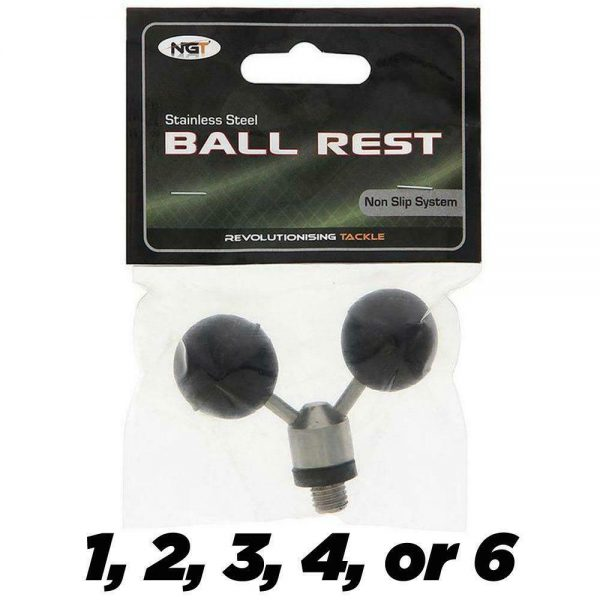 NGT TWIN STAINLESS STEEL BALL FISHING REST