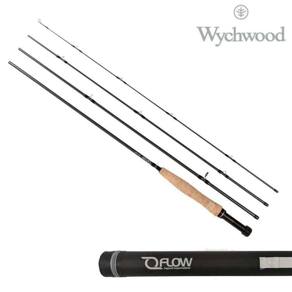 WYCHWOOD FLOW FLY RODS 4 PCS WITH TRAVEL TUBE