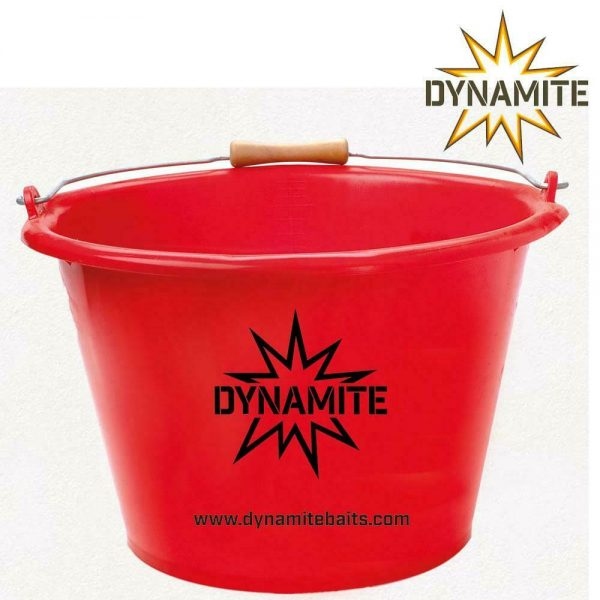 DYNAMITE BAITS RED 17ltr MIXING BAIT BUCKET