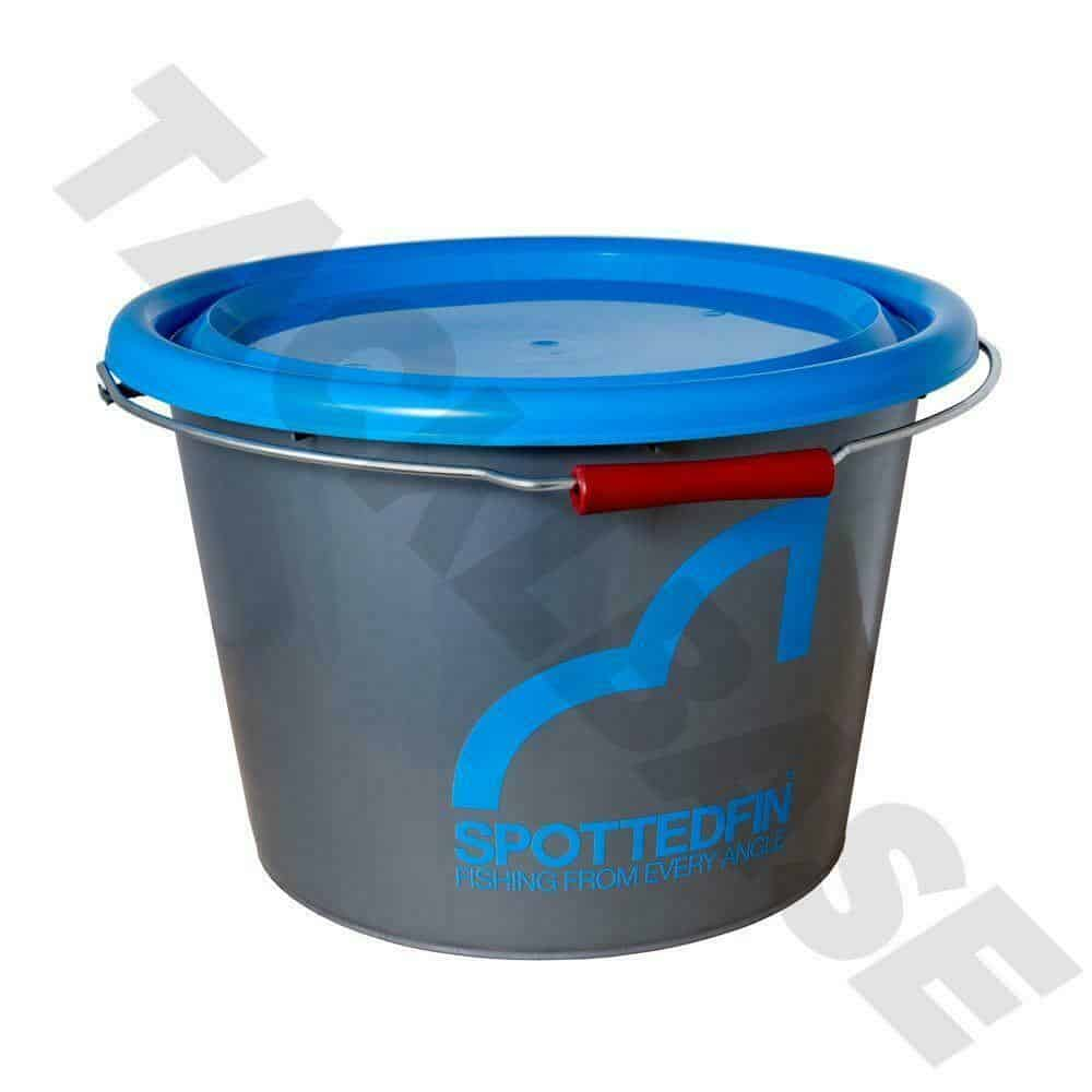 SPOTTED FIN 18ltr MIXING BAIT BUCKET WITH LID