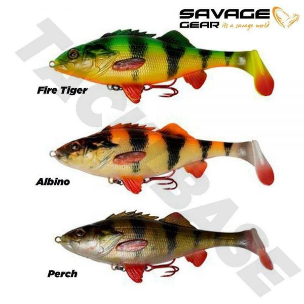 SAVAGE GEAR 4D PERCH SHAD PADDLETAIL