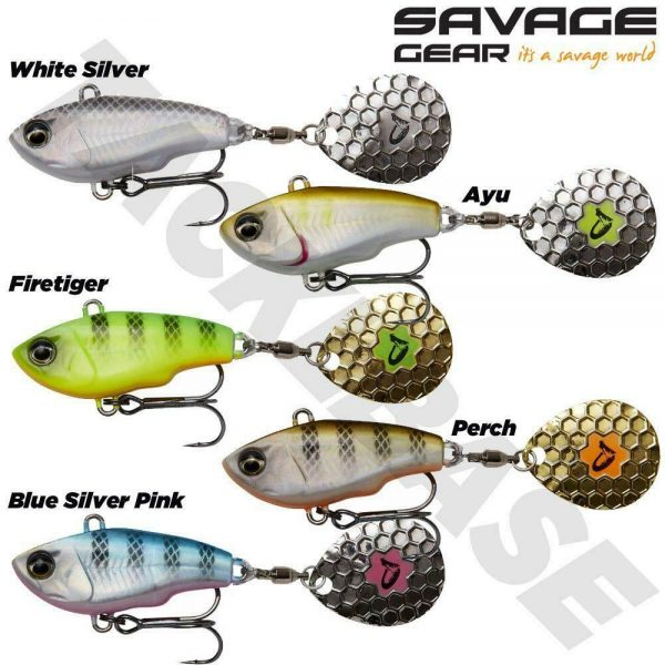 SAVAGE GEAR SINKING FAT TAIL SPIN LURES