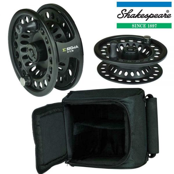 SHAKESPEARE SIGMA FLY REEL SPARE SPOOL & CASE