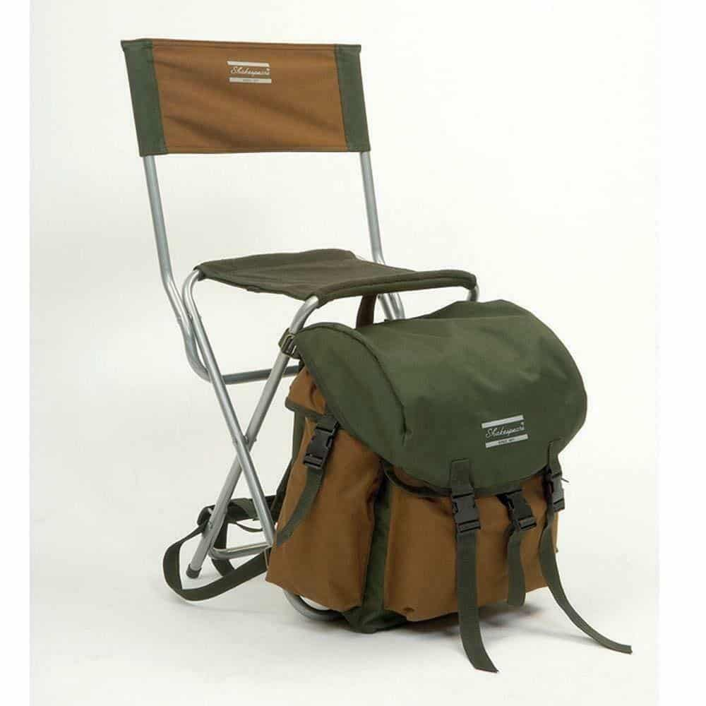 SHAKESPEARE DELUXE FOLDING CHAIR WITH RUCKSACK BAG