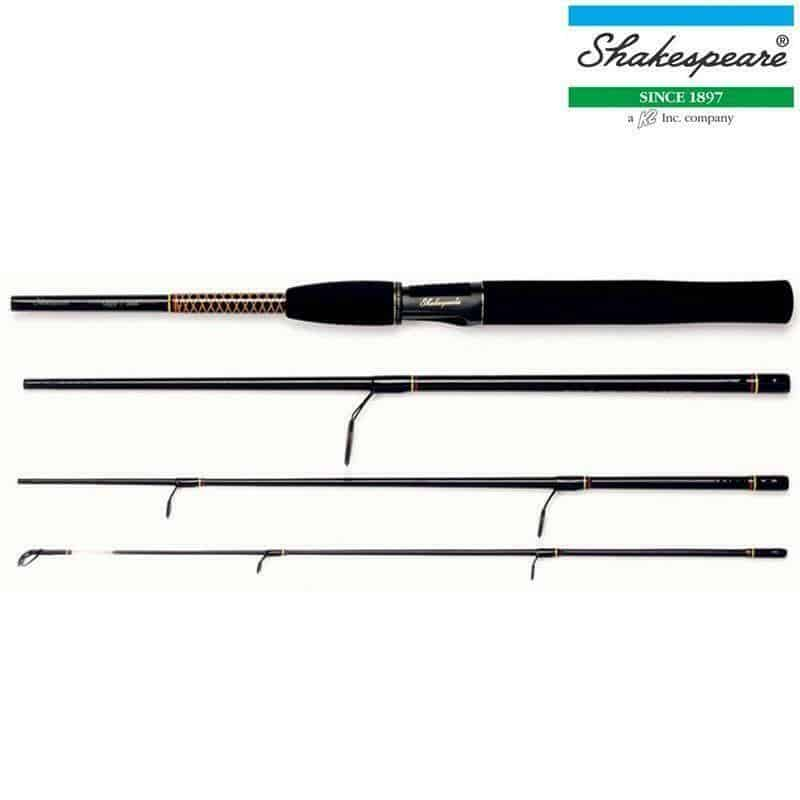 SHAKESPEARE UGLY STIK 4 PIECE TRAVEL SPIN 6.6ft