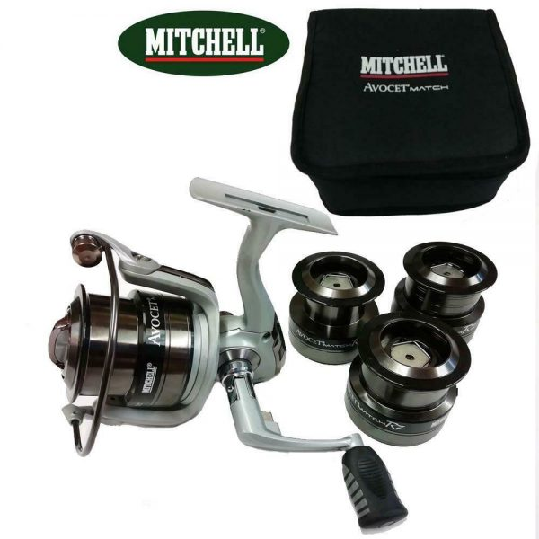 MITCHELL AVOCET RZ 4000  REEL WITH 3 SPARE SPOOLS