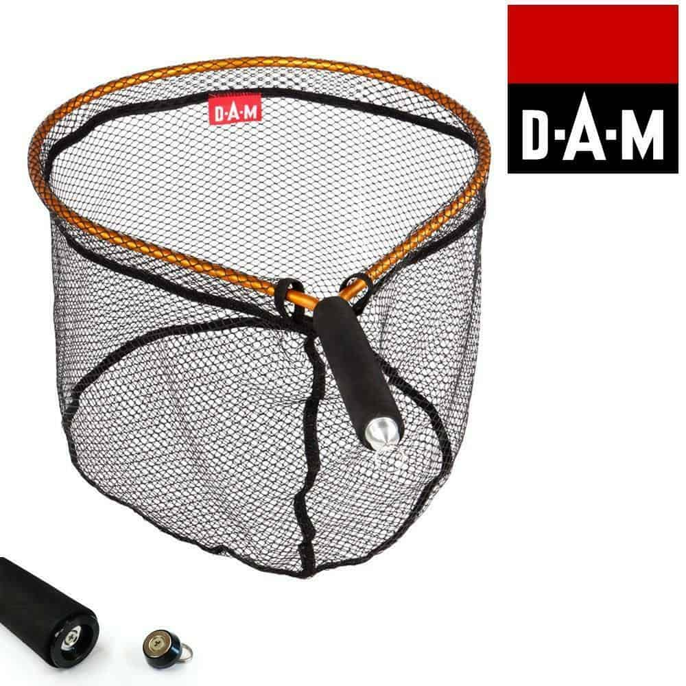 DAM MANGO FLY FISHING SCOOP NET WITH MAGNET CLIP