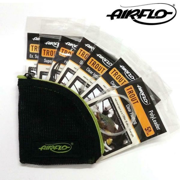 AIRFLO TROUT 5FT POLYLEADER SET (7 POLYLEADERS) WITH FREE WALLET