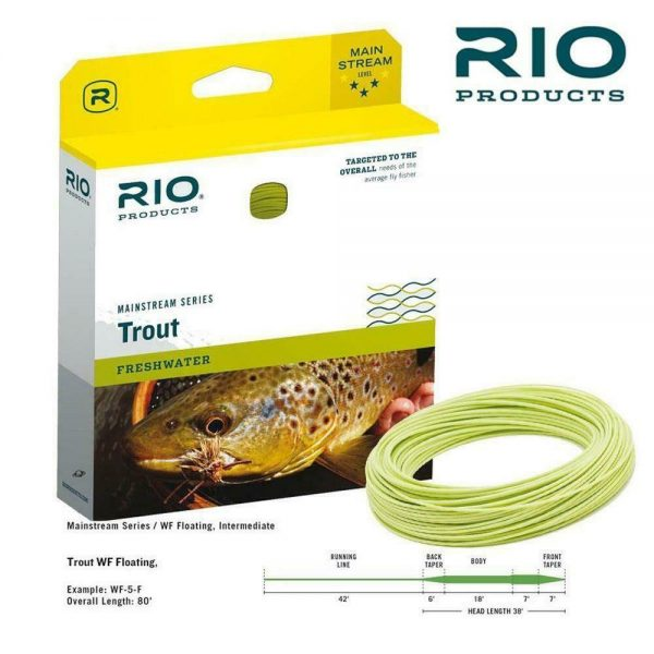 RIO MAINSTREAM TROUT FLOATING FLY LINE