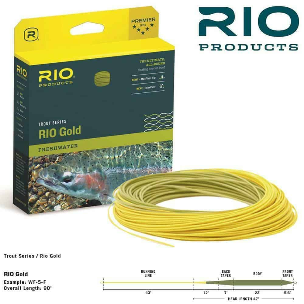 RIO GOLD FRESHWATER TROUT FLOATING FLY LINE