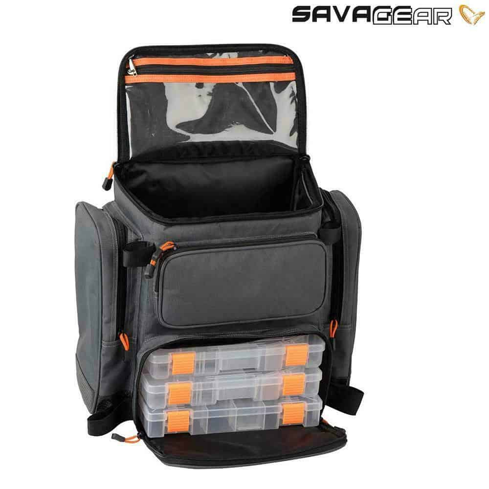 SAVAGE GEAR SPECIALIST LURE RUCKSACK – INCLUDES 3 BOXES