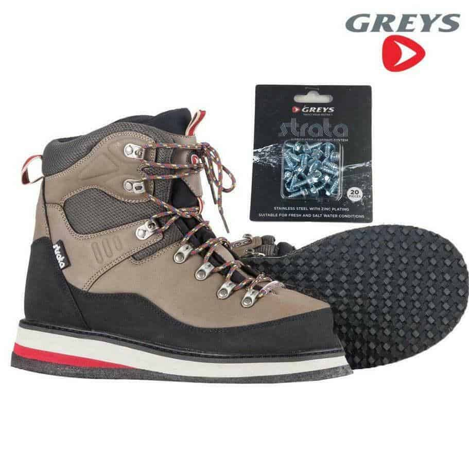 GREYS STRATA CTX RUBBER SOLE WADING BOOTS & STUDS