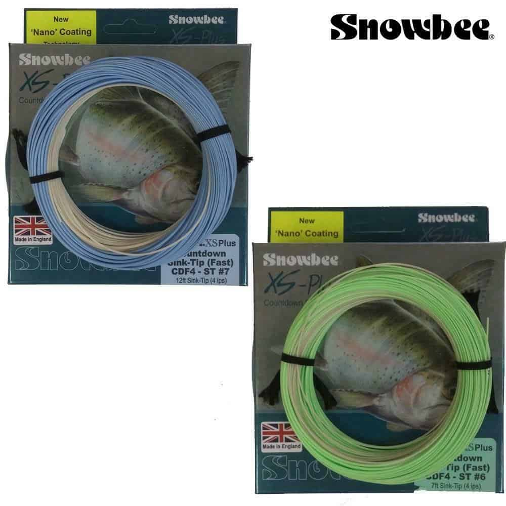 SNOWBEE XS-PLUS COUNTDOWN FAST SINK-TIP FLY LINES 7 & 12ft TIPS