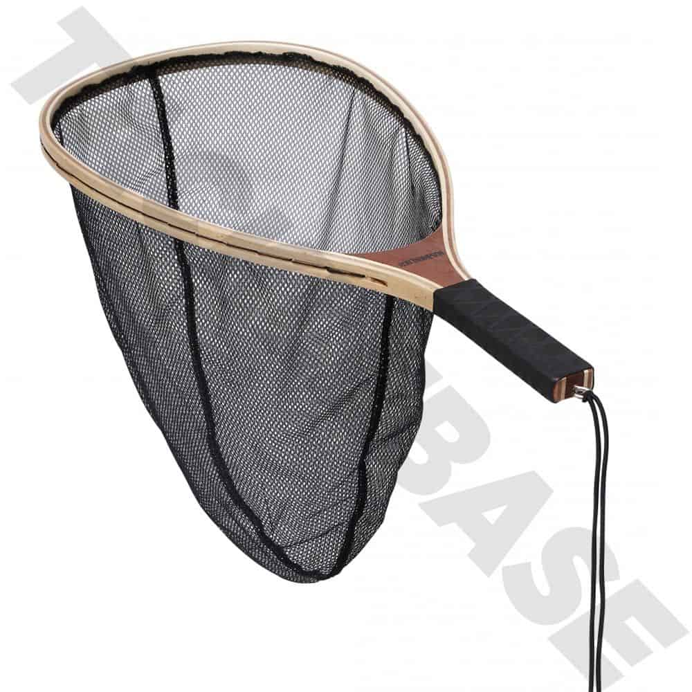 RON THOMPSON MANITOA WOODEN SCOOP FISHING NET C&R MESH – FLY GAME FISHING
