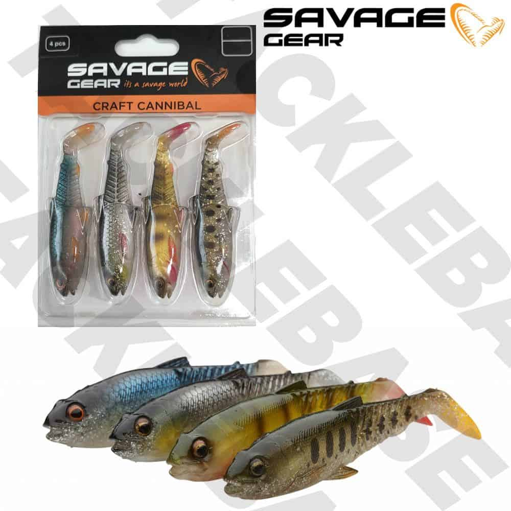 SAVAGE GEAR NEW CRAFT CANNIBAL PADDLETAIL – CLEAR WATER MIX