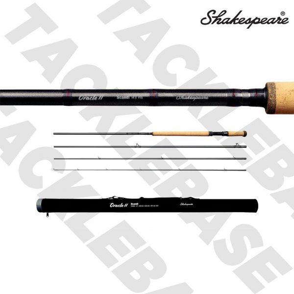SHAKESPEARE ORACLE 2 SCANDI 4 PIECE FLY ROD 13FT9-14FT9 WITH ROD TUBE