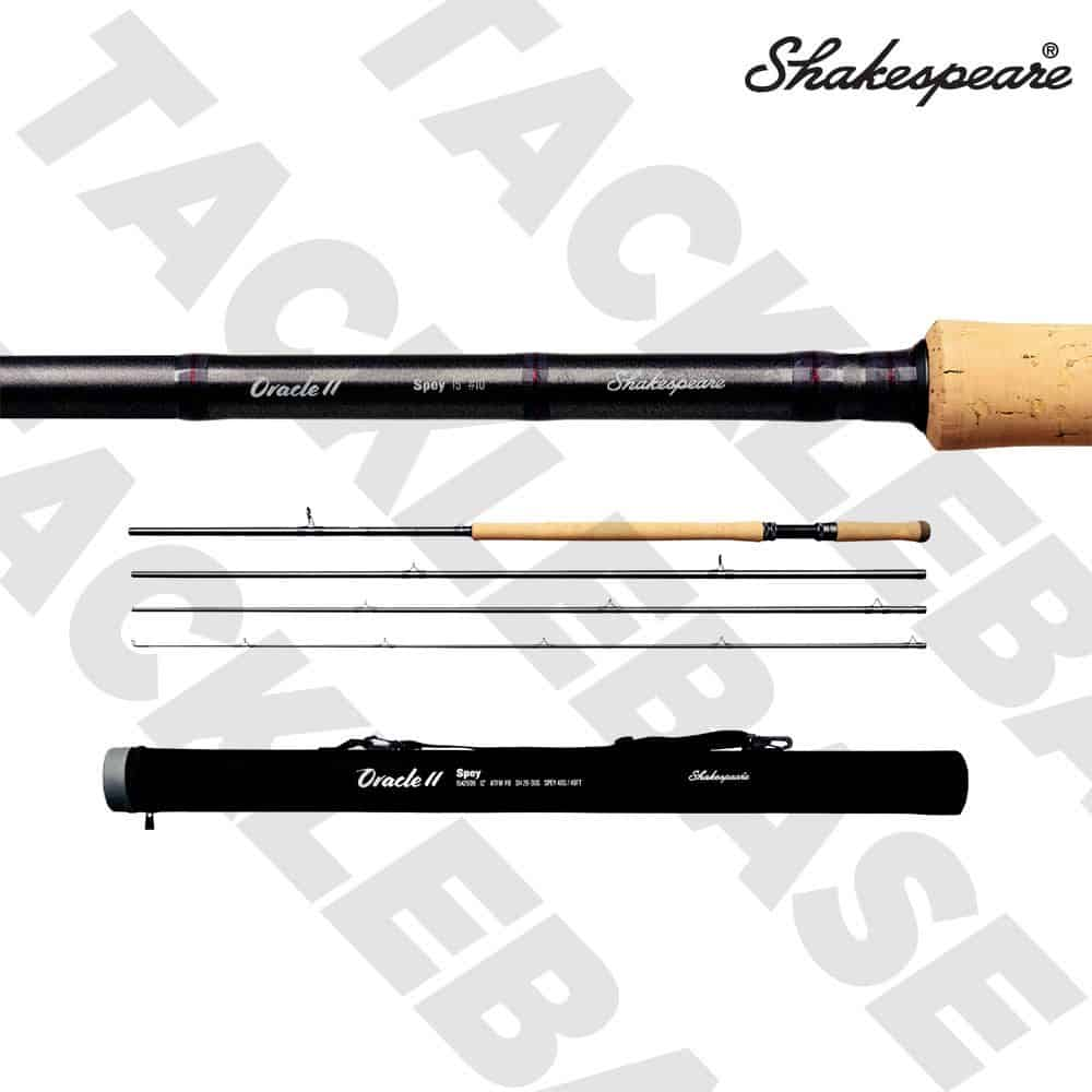 SHAKESPEARE ORACLE 2 SPEY 4 PIECE FLY ROD 12FT-15FT WITH ROD TUBE
