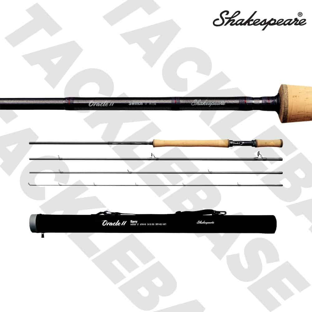 SHAKESPEARE ORACLE 2 SWITCH 4 PIECE FLY ROD 11FT WITH ROD TUBE