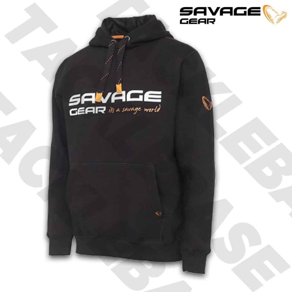 SAVAGE GEAR LOGO COSMO HOODIE – BLACK INK – ALL SIZES