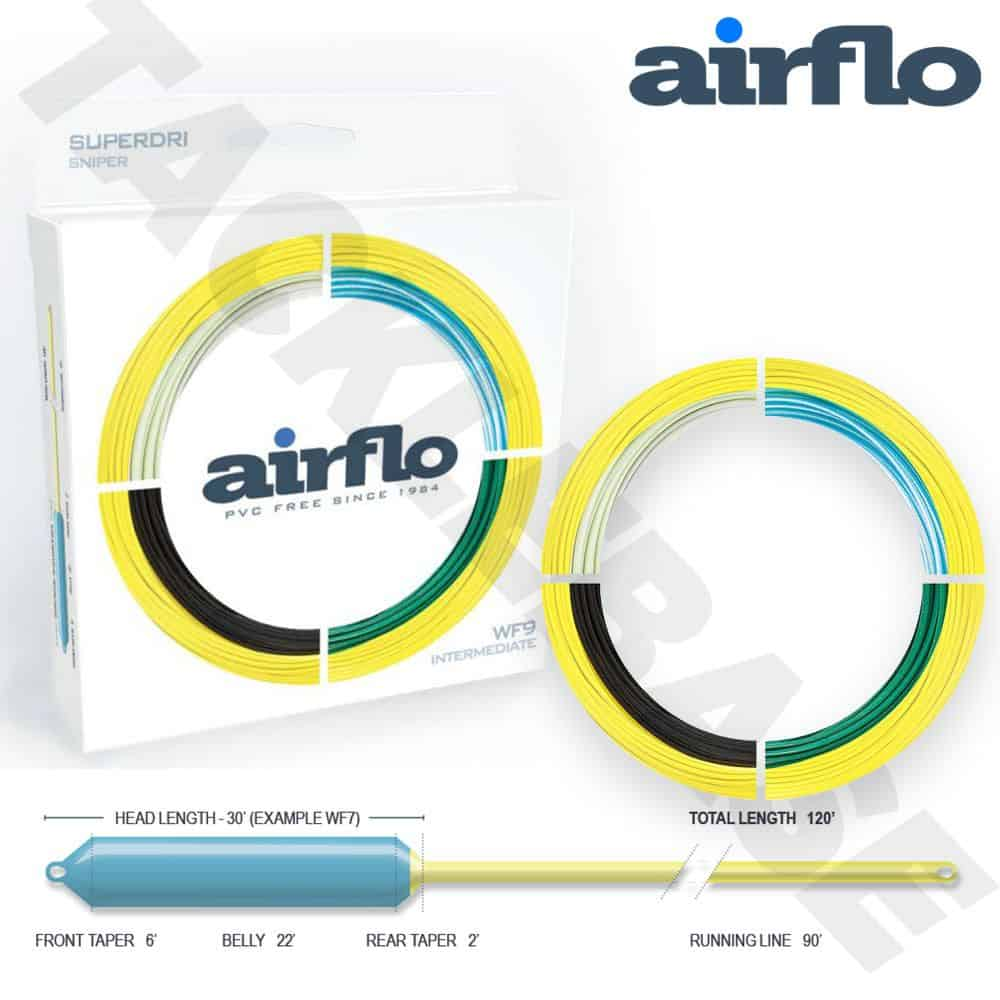 AIRFLO SUPERDRI SNIPER 40+ FLY FISHING LINE FLOATING – NEW 2021