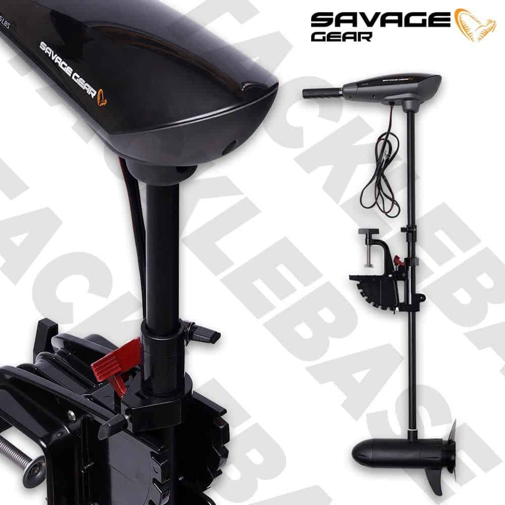SAVAGE GEAR THRUSTER 12V ELECTRIC OUTBOARD ENGINE TROLLING MOTOR – 36 OR 55LBS