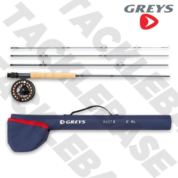 GREYS K4ST X FLY FISHING ROD EURO NYMPH WITH REEL LINE AND HARD TRAVEL TUBE
